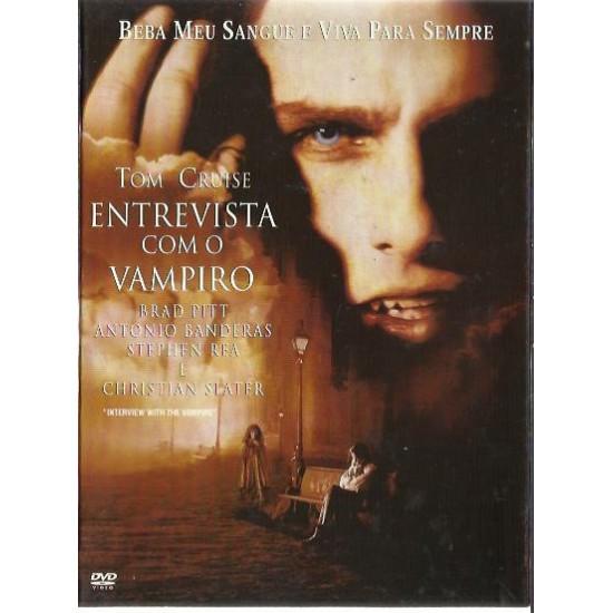 Dvd Entrevista Com o Vampiro - Tom Cruise, Brad Pitt, Antonio Banderas